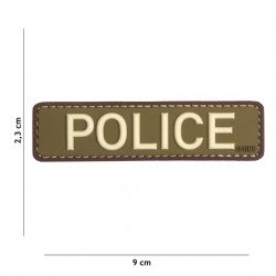 3D Patch PVC Police OD & Brown (101 Inc)
