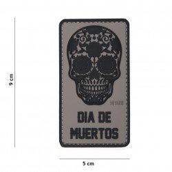 Patch 3D PVC Dia de Muertos Gris (101 Inc)