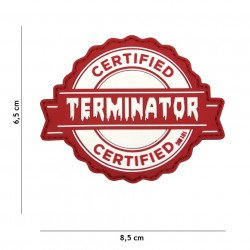 Patch 3D PVC Terminator Rouge (101 Inc)