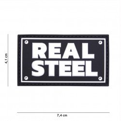 Patch 3D PVC Real steel Noir (101 Inc)