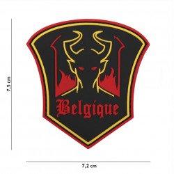 Patch 3D PVC Belgique Devil Noir (101 Inc)
