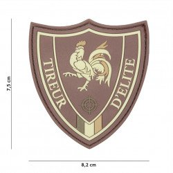 Patch 3D PVC Tireur d'elite Marron (101 Inc)