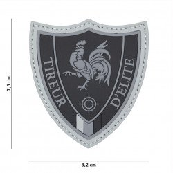PVC 3D Patch Elite Sniper Black (101 Inc)
