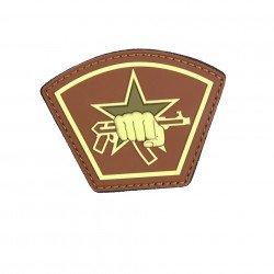 Patch 3D PVC Russian Star Fist Marron (101 Inc) AC-WP4441305554 Patch en PVC