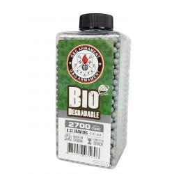 Flasche 0,32 g Bio von 2700 weißen Perlen (G & G)