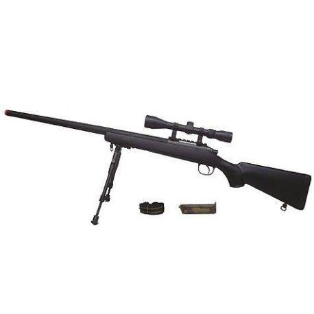 replique-Sniper VSR10 w/ Lunette & Bipied (Well) -airsoft-RE-WLMB03DBK
