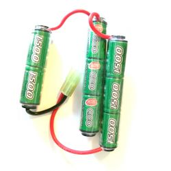 Batterie NiMh 9,6v Triple 1500 mAh (ICS MC-142)