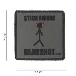 3D Patch PVC Stick Figure Headshot (101 Inc)