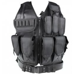 Veste Tactique Recon Holster Noir (S&T)