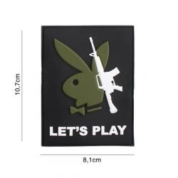 Patch 3D PVC Playboy Rifle Let's Play (101 Inc)