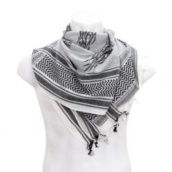 Keffieh / Cheche / Black & White Scarf (MFH)
