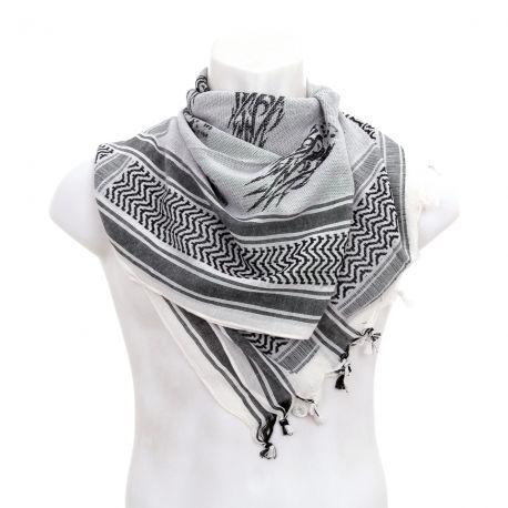 best uk store sale retailer Keffieh / Cheche / Echarpe Noir & Blanc