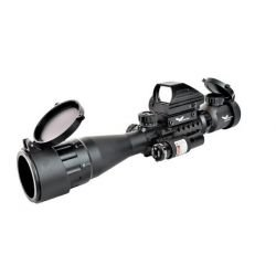 Lunette 3-9x40 Illuminee w/ Combo Red Dot & Laser (JS)