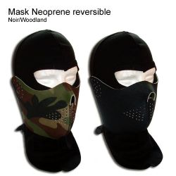Masque Neoprene Reversible Woodland / Noir (Kgear)