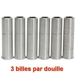 Pack de 6 Douilles Aluminium Triple Shot Dan Wesson (Swiss Arms)