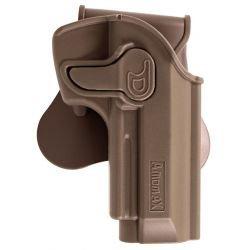Holster Droitier CQC Rigide Beretta M92 Désert (AMOMAX / CYTAC)