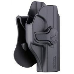 Holster Droitier CQC Rigide HiCapa Noir (AMOMAX / CYTAC)