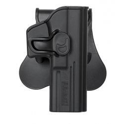 Holster Droitier CQC Rigide Glock G17 / G18 Noir (AMOMAX / CYTAC)