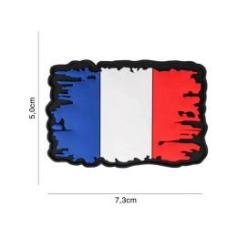 Patch 3D PVC Drapeau France Vintage (101 Inc)