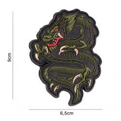 Patch 3D PVC Dragon Vert ou Rouge