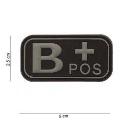 Patch 3D PVC Sanguin B+ Noir (101 Inc)