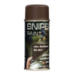 Spray / Bombe Peinture Sniper Noir Mat 150ml (Fosco)