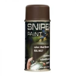 Spray / Bombe Peinture Sniper Marron 150ml (Fosco)