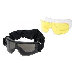 Masque Protection w/ 3 Verres GX-1000 Noir (101 Inc)