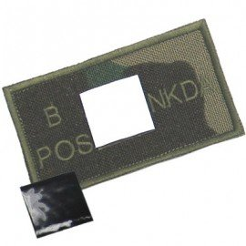 King Arms Patch Sanguin B+ Woodland (King Arms) HA-KAPCHBWDL Patch en tissu