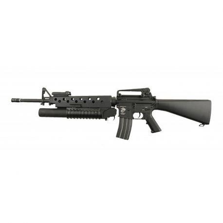 M16A3 w/ M203 Full Metal Noir (E&C)