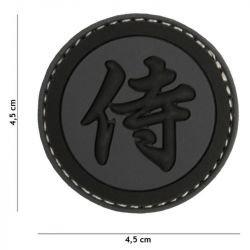 Patch 3D PVC Kanji Samourai Noir (101 Inc)