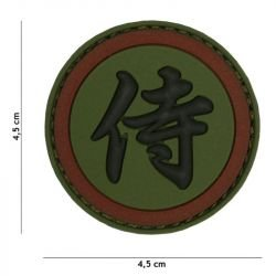 Patch 3D PVC Kanji Samourai OD (101 Inc)