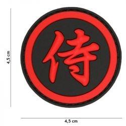 Patch 3D PVC Kanji Samourai Rouge (101 Inc)