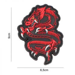 Patch 3D PVC Dragon Rouge (101 Inc)
