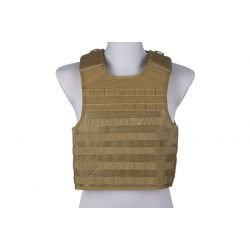 Veste Plate Carrier Tactique Mesh Coyote (GFT)