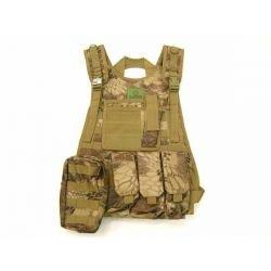 Veste Tactique Combat w/ 3 poches OD (JS)