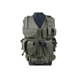 KAM-39 tactical vest The vest is made around nylon mesh. It has three straps on each side fro size adjustment. On the back ther