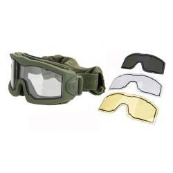 Masque Protection Aéro w/ 3 Verres OD (Lancer Tactical)