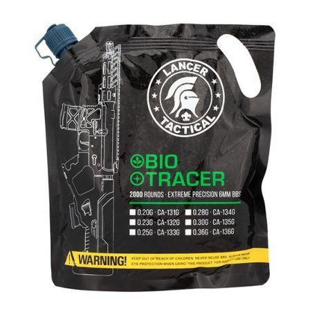 Sachet 0,20g Bio Traçantes Verte 2000 Billes (Lancer Tactical)