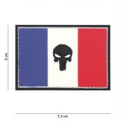Patch 3D PVC Drapeau France Punisher Gris (101 Inc)