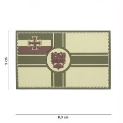 Patch 3D PVC Drapeau Allemagne 1914 Gris (101 Inc)