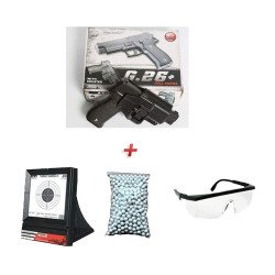 Pack Cadeau G26 w/ Holster + Lunette + Billes + Cible Filet (Galaxy G26)