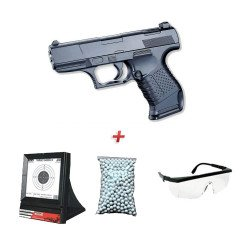 Pack Cadeau G19 w/ Holster + Lunette + Billes + Cible Filet (Galaxy G26)