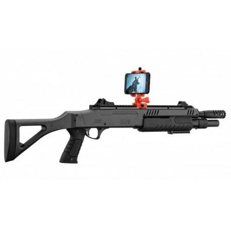 Fusil Pompe Fabarm Connecte AR Court Burst-3 Billes Noir (BO)