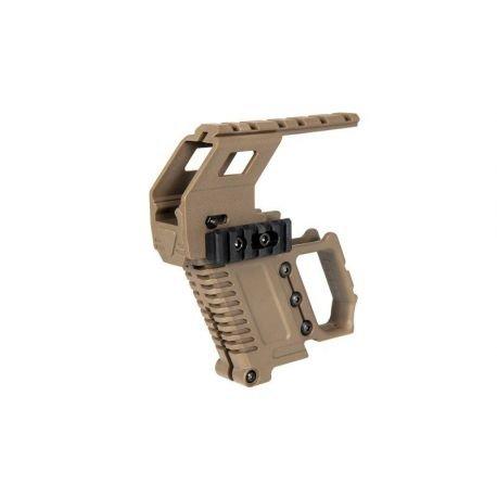 Kit Tactique Glock w/ Rail Tactique Desert (Ultimate Tactical)
