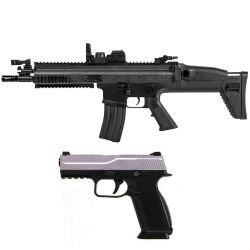 replique-FN SCAR AEG et FNS-9 avec 500 Billes (Cybergun) -airsoft-HC-RE-200969