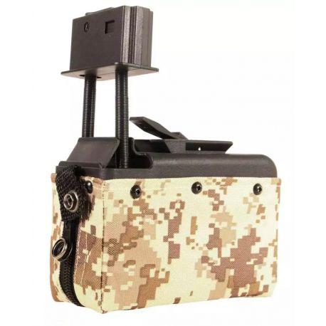 AmmoBox M249 auto 1500 Billes Digital Desert (A&K)