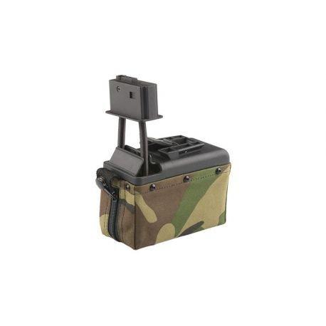 AmmoBox M249 auto 1500 Billes Woodland (A&K)