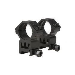 Anneau Haut 30mm (Set 2pcs) Noir (Theta Optics)