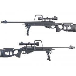 Sniper SV-98 w/ Lunette & Bipied Noir Ressort (Snow Wolf)